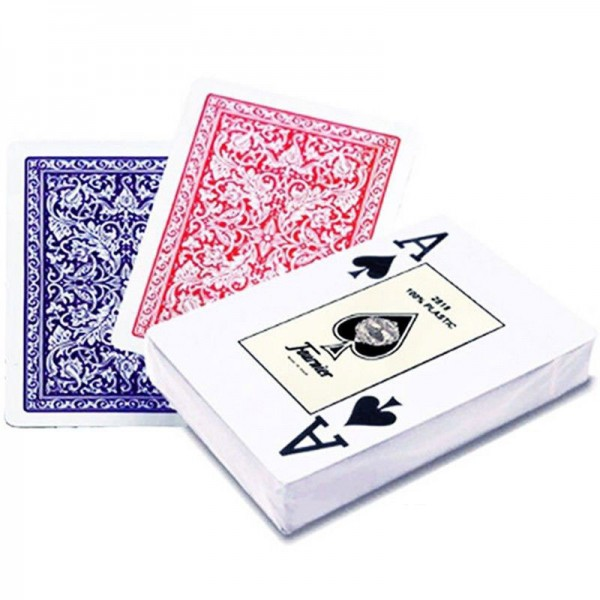 Fournier 2818 Plastic Playing Cards Poker Cheating Magic Poker contact lenses