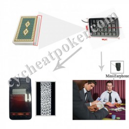 Baccarat Poker Scanning Cheating Device Side Marked Playing Cards