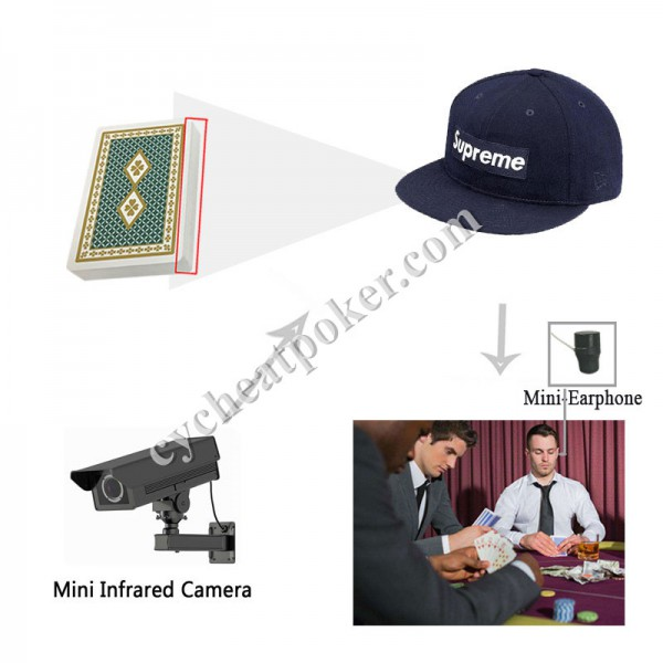 Hat magic tricks poker spy camera for cheating playing cards