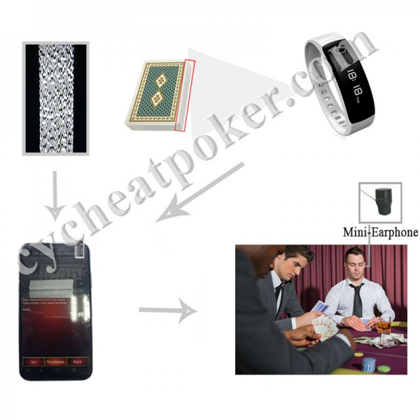 Smart Bracelet Poker Scanner cheating playing card device