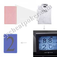 Clothes Zipper poker Scanner cheating cards scanning camera