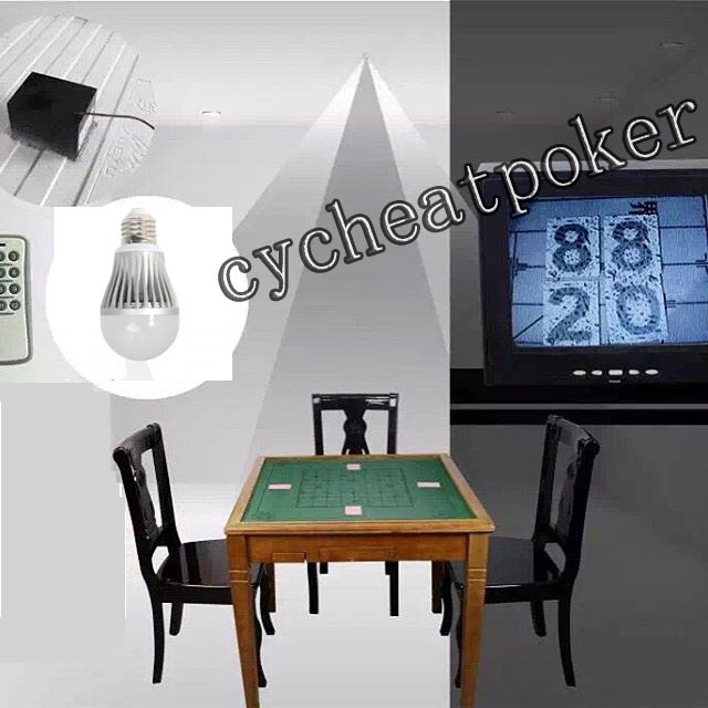 Energy Saving lamp Poker Camera Magic Props  Cheating Playing Cards