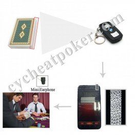 Car Key Poker Camera scan Invisible barcode playing card for cheat at poker