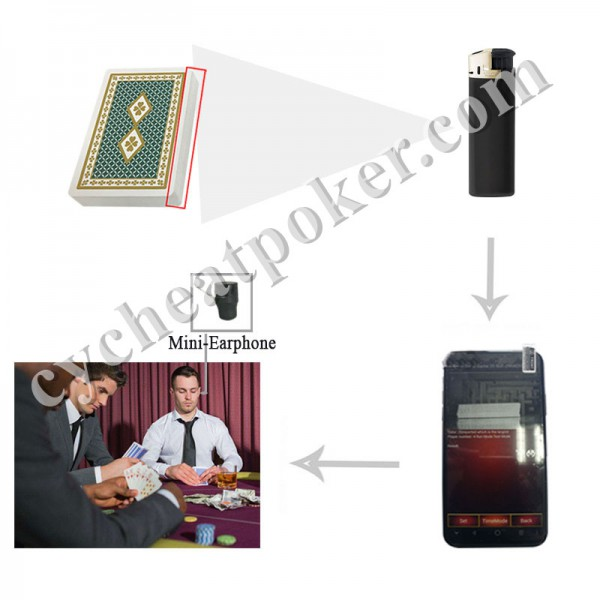 Lighter Poker Scanner for poker cheat  magic card
