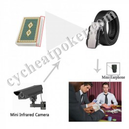 Leather Belt For Poker Scanning Camera Cheat in Casino
