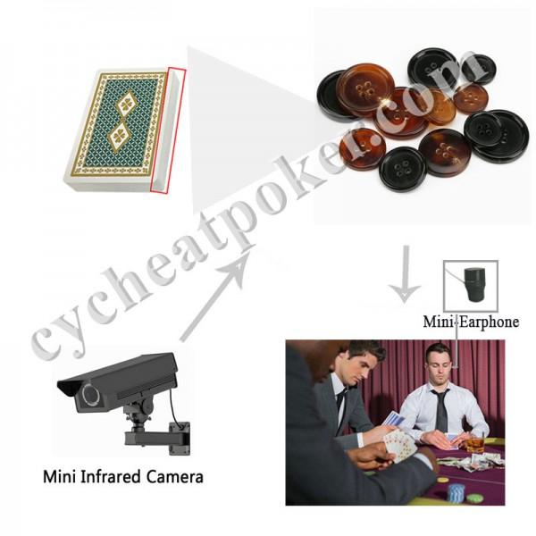 Clothing Button Poker Camera Cheat in Casino Gambling