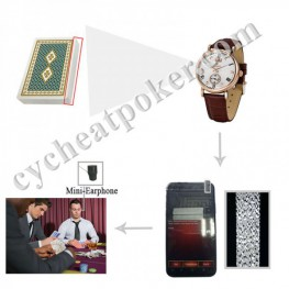 poker cheating analyzer watch hide spy camera cheat card scanner device