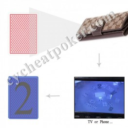 Wallet Hide spy camera playing Card Device to win poker game