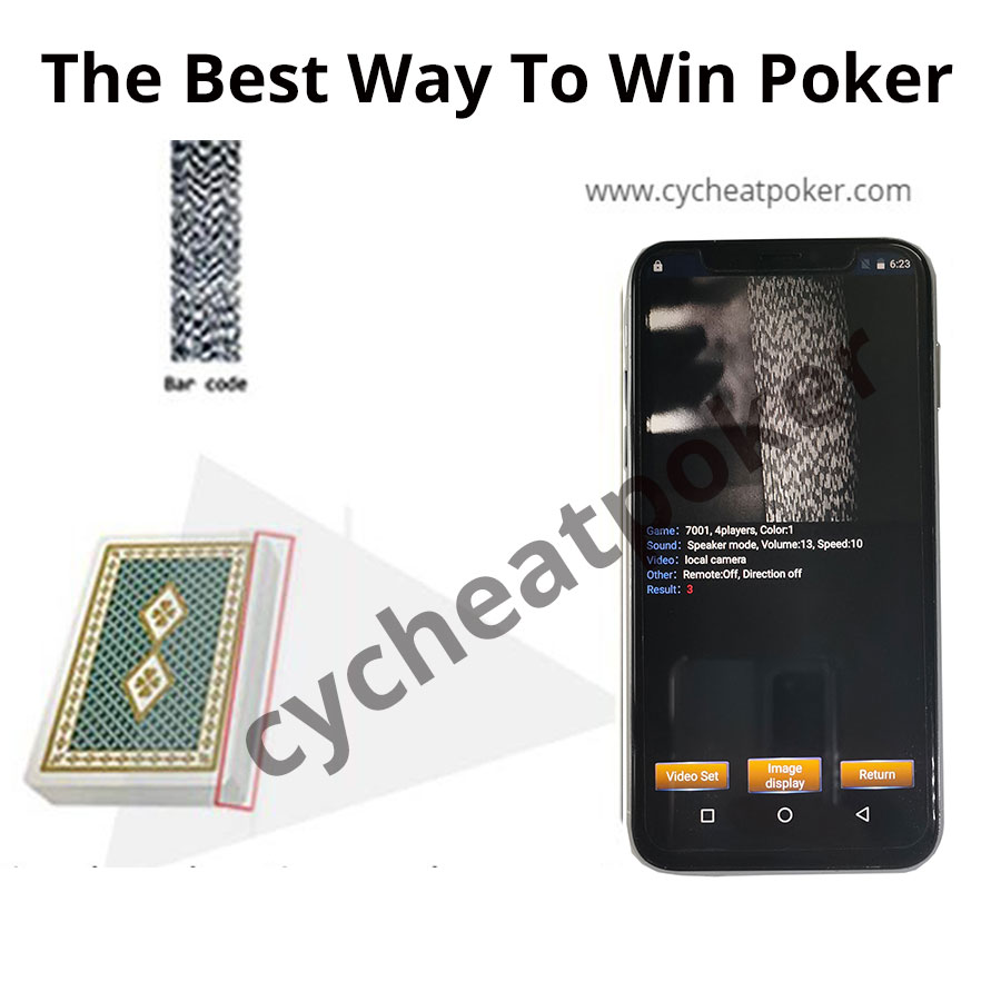 Iphone 11 cheat in general card poker cheating device read non Marked Card