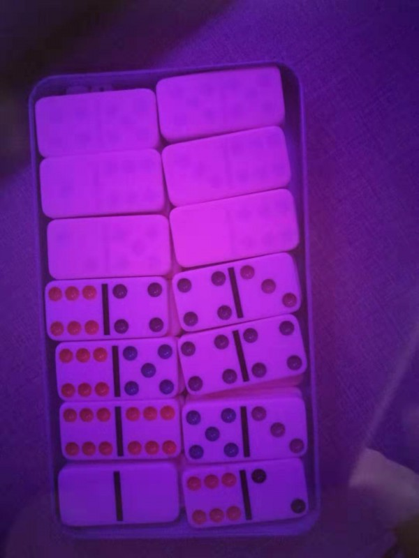 Mahjong cheating device Marked with Invisible Ink only see by Contact Lenses