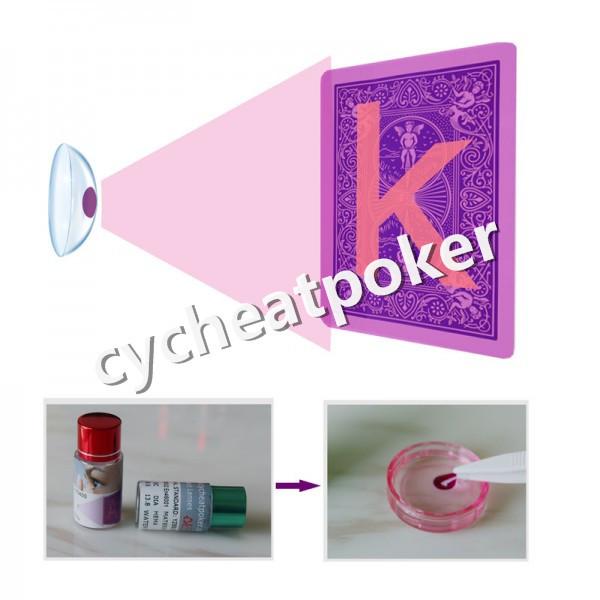 Poker hile görünmez mürekkep kontakt lens ile kart işaretli kumar hile perspektif poker lens için
