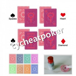 Modiano Cristallo Marked Card for contact lens win in poker Magic Glasse card marking