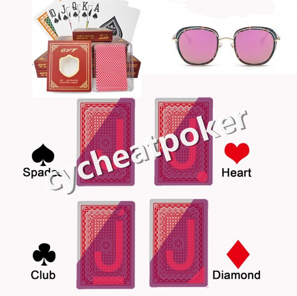 Marked card contact lenses Mastery cheat poker playing cards magic card