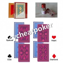 UV contact lenses Cheat at Poker Japanese Marked Card for Cheat Poker magic tricks prop