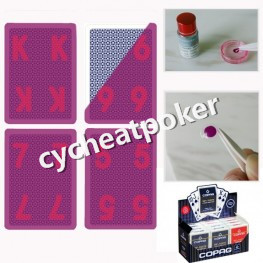 Copag luminous Ink Marked Card For IR contact lens jumbo 2 index Cheating in Casino