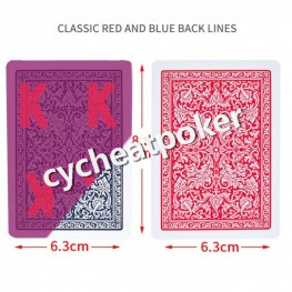 Invisible marked poker for UV Contact Lense Marked Cards poker cheat in Fournier Plastic Playing Cards