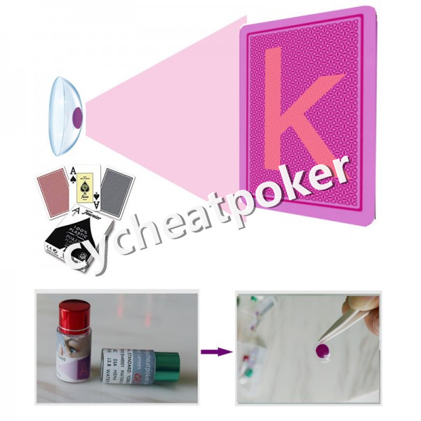 One By One One To One special contact lenses plus Invisible ink mark poker