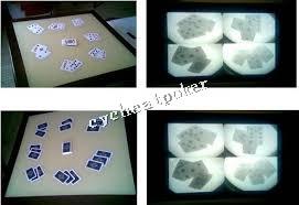 Perspective table Texas Hold'em Cheating Desk Sensor board Poker
