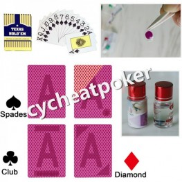 Perpsective card for UV contact lenses Texas Hold'Em cheat in poker marked card