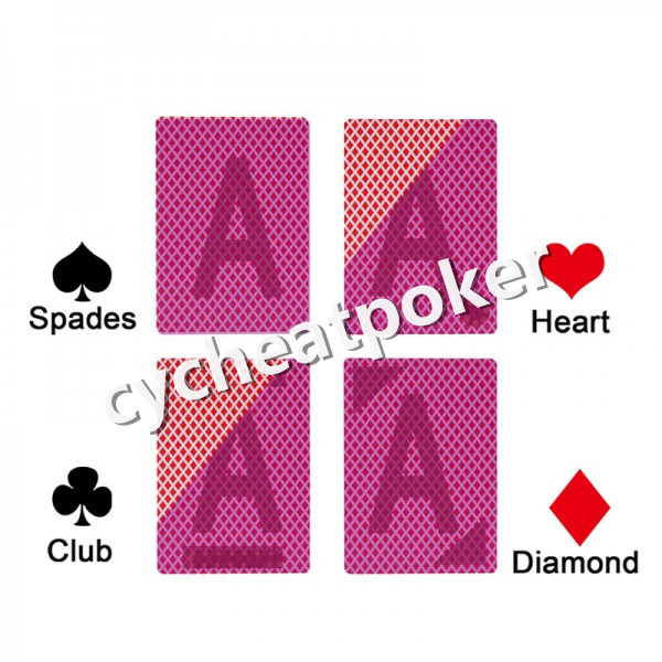 Perpsective card Texas Hold'Em for Infrared contact lens marked card cheat in poker