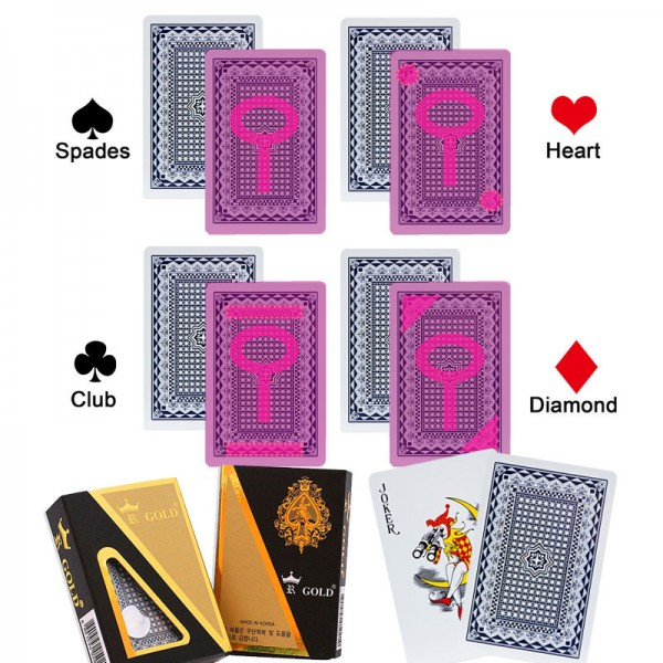 GOLD cheating playing card marked poker for special contact lenses poker cheating device