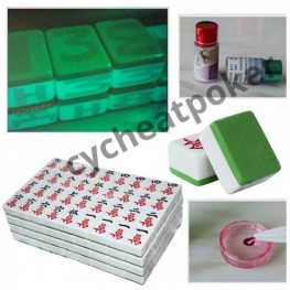 Mahjong anti cheating device Marked with Invisible Ink only see by Contact Lenses